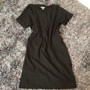 Babaton black shirt dress w/ large front pockets
